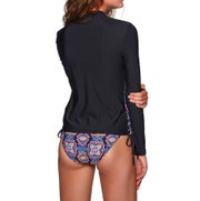 Seafolly Sun Temple Long Sleeve Sunvest Ladies Swimsuit