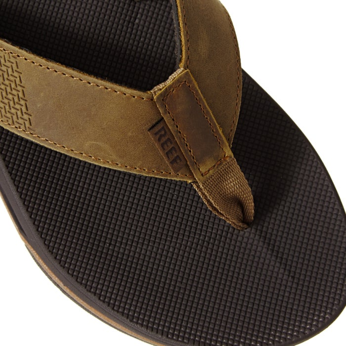 Reef Leather Fanning Low Sandals