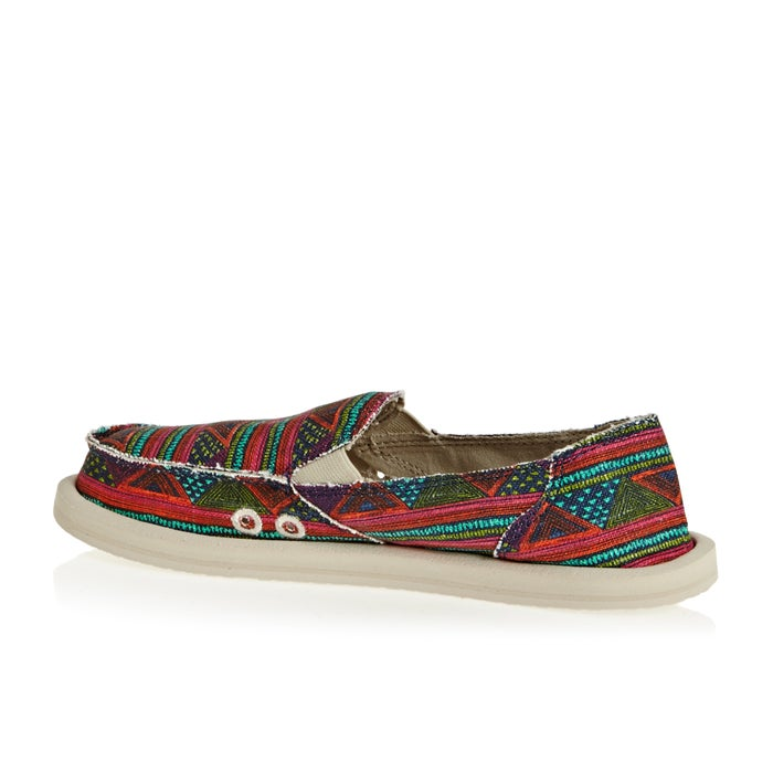 Sanuk W Donna Geo Stripes Ladies Slip On Shoes