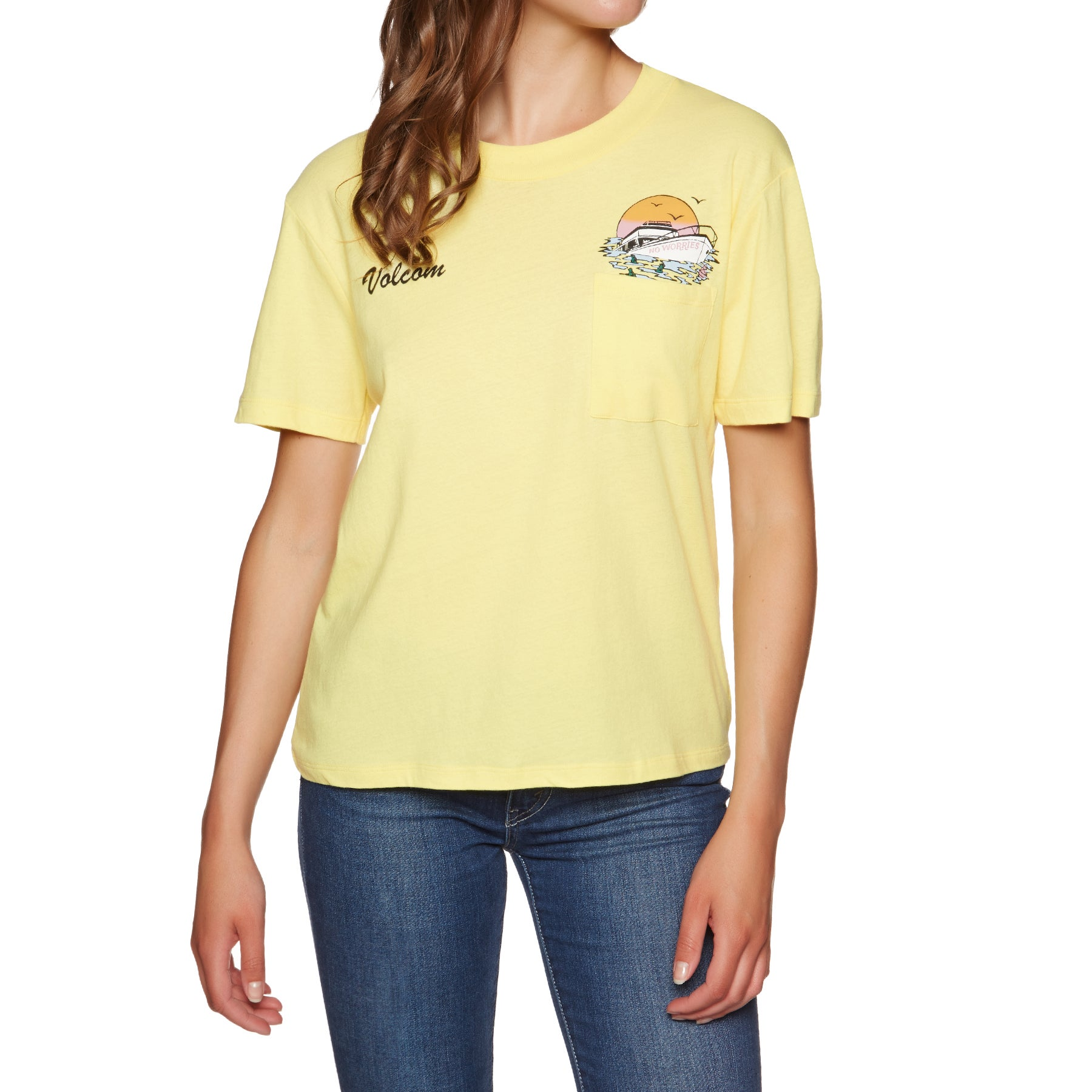 Volcom Pocket Dial Ladies Short Sleeve T-Shirt