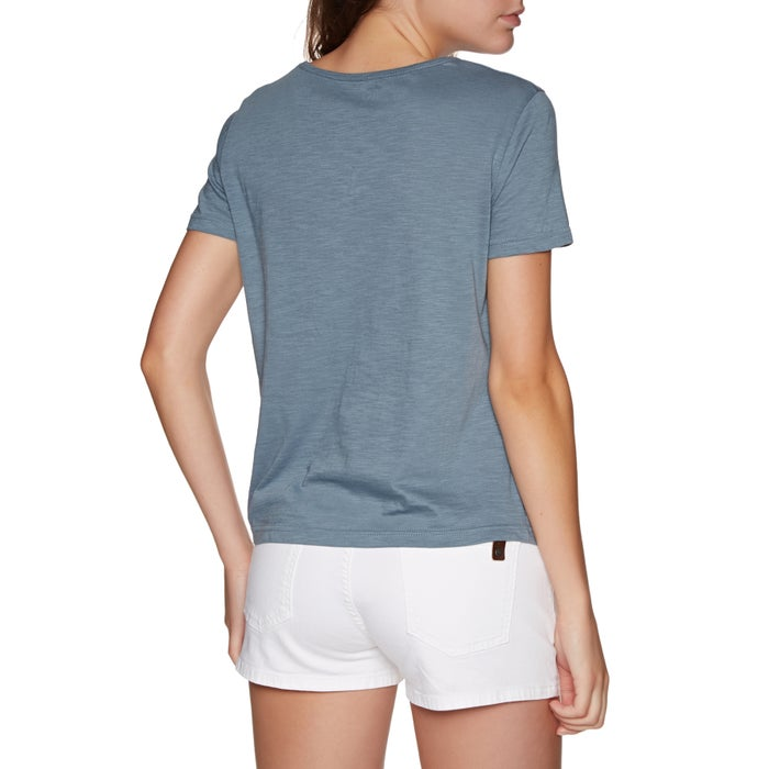 Roxy Red Lines Ladies Short Sleeve T-Shirt