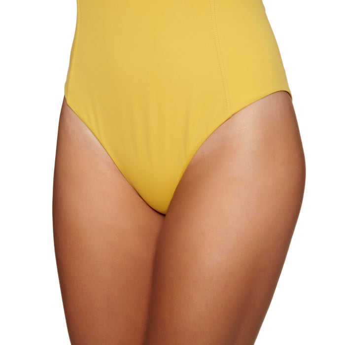 RVCA Solid Lace Front One Ladies Swimsuit