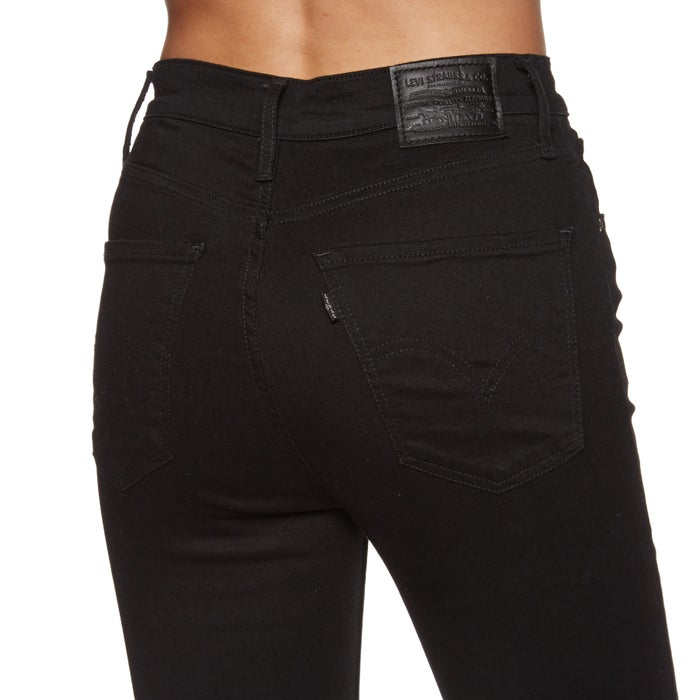 Levis Mile High Super Skinny Black Galaxy Ladies Jeans