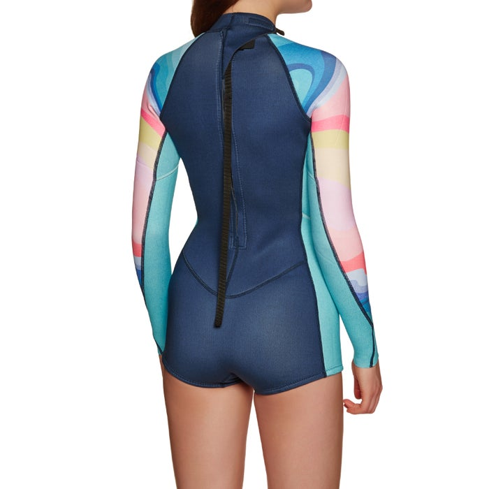 Billabong Spring Fever 2mm 2019 Long Sleeved Shorty Wetsuit
