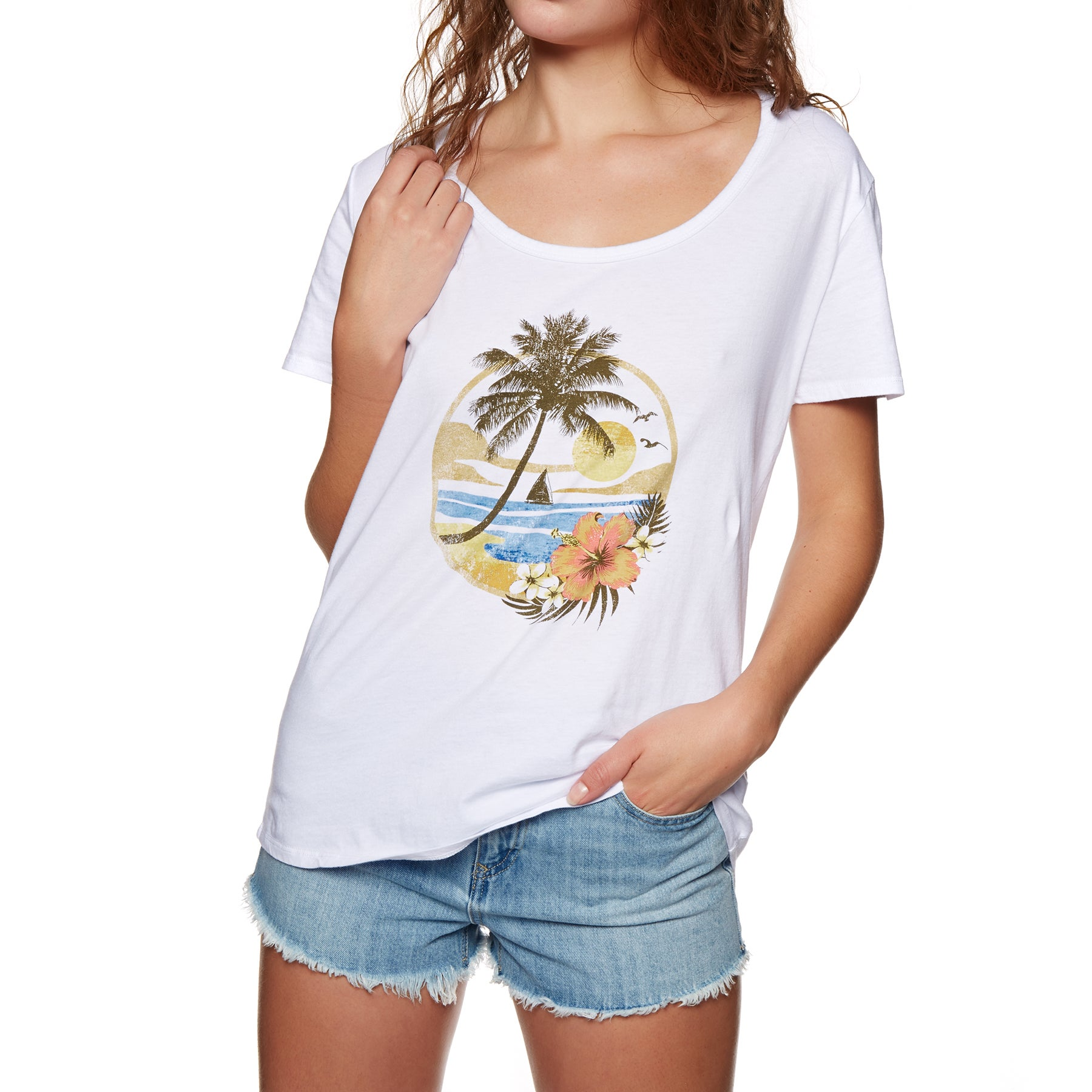 SWELL Tropical Paradise Ladies Short Sleeve T-Shirt