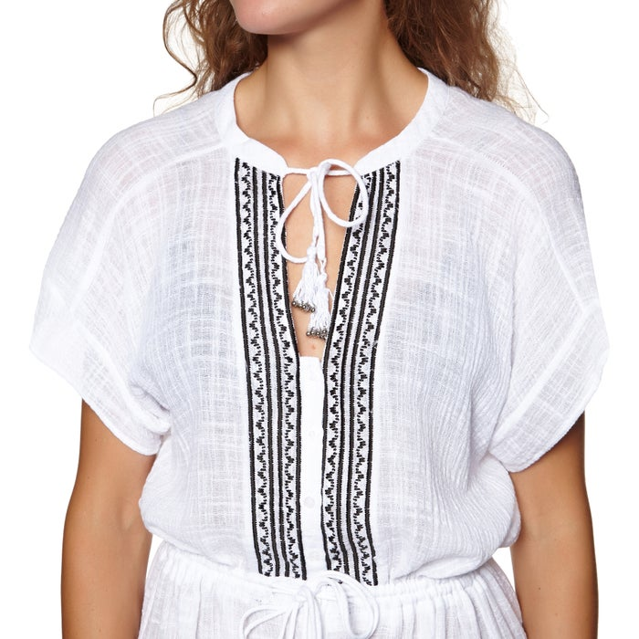 Seafolly Sun Temple Embroidered Maxi Shirt Ladies Dress