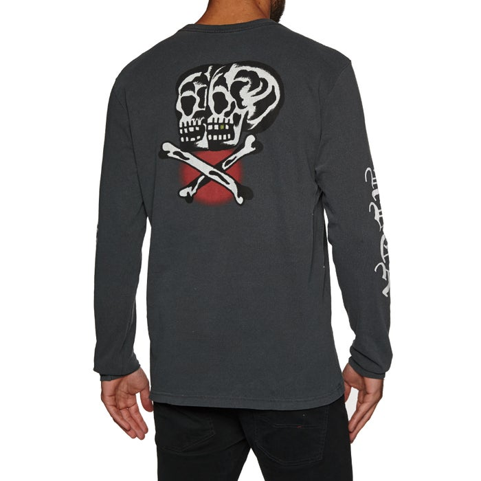 RVCA Double Skull Ls Long Sleeve T-Shirt