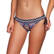 Seafolly Sun Temple Banded Tie Side Hipster Ladies Bikini Bottoms