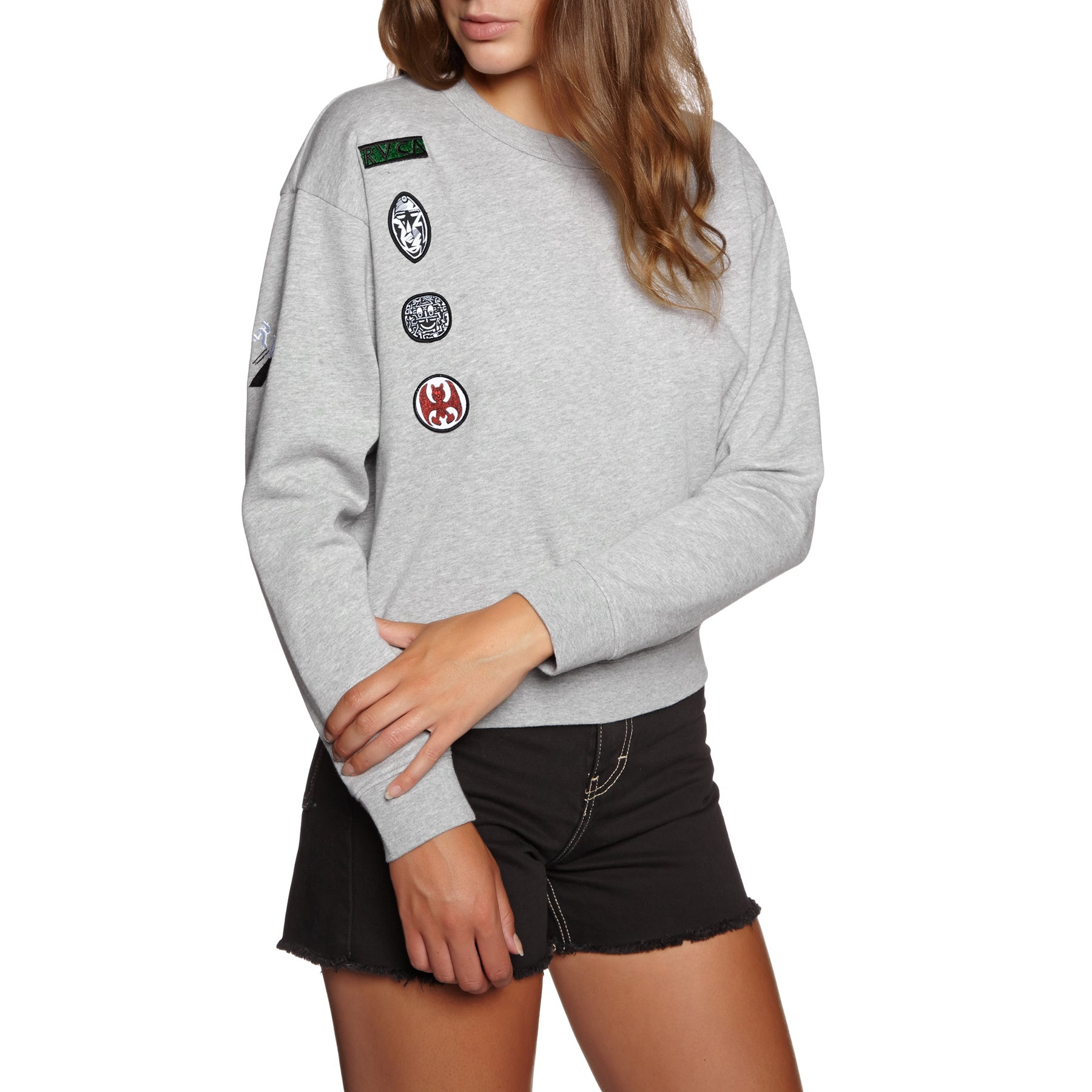RVCA Grillo Patch Crew Ladies Sweater