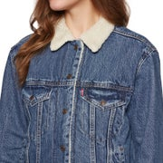 Levis Exbf Sherpa Trucker Addicted To Love Ladies Jacket