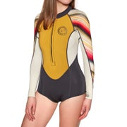 Billabong Salty Dayz 2mm 2019 Long Sleeve Shorty Ladies Wetsuit