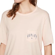 Hurley Metal Blades Crop Pocket Crew Ladies Short Sleeve T-Shirt
