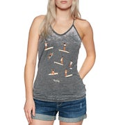 Hurley Log Days Burn Out Ladies Tank Vest