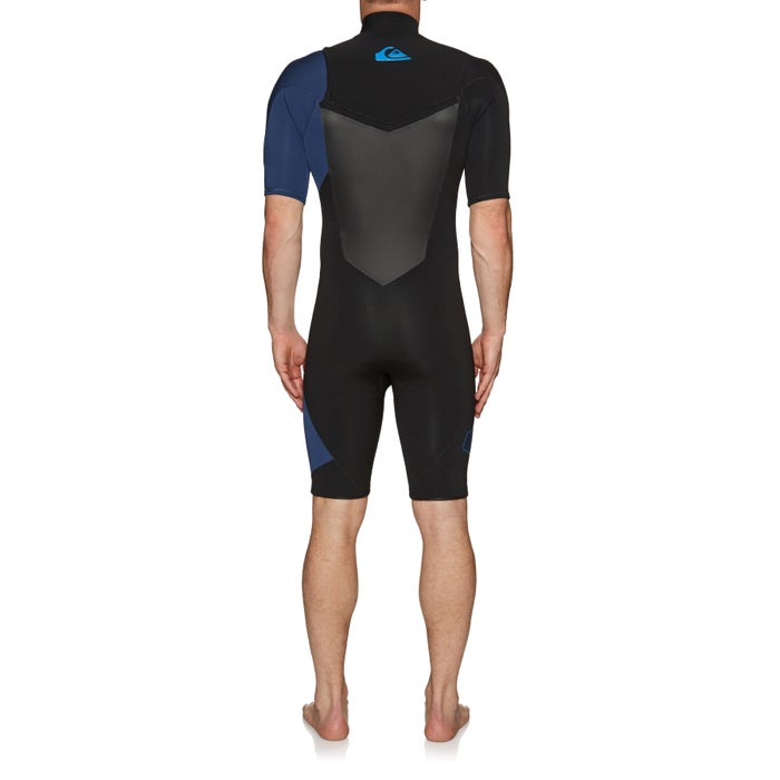 Quiksilver 2/2mm Highline Plus Short Sleeve Chest Zip Wetsuit