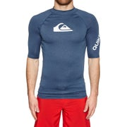Quiksilver All Time Short Sleeve UPF 50 Rash Vest