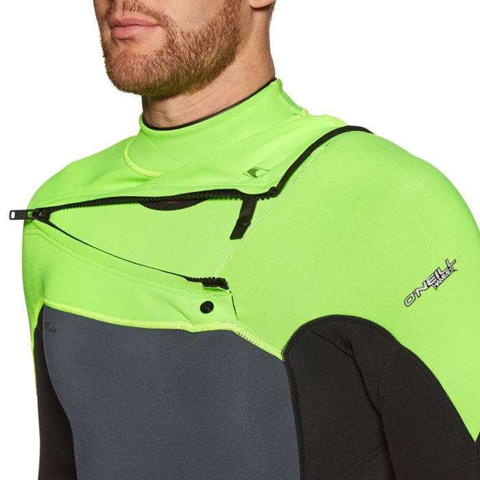 O Neill Hammer 2mm Chest Zip Long Sleeve Shorty Wetsuit