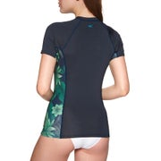 O Neill Side Print Short Sleeve Rash Vest