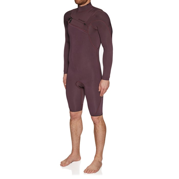 Quiksilver Highline Ltd 2/2mm 2019 Chest Zip Long Sleeve Shorty Wetsuit