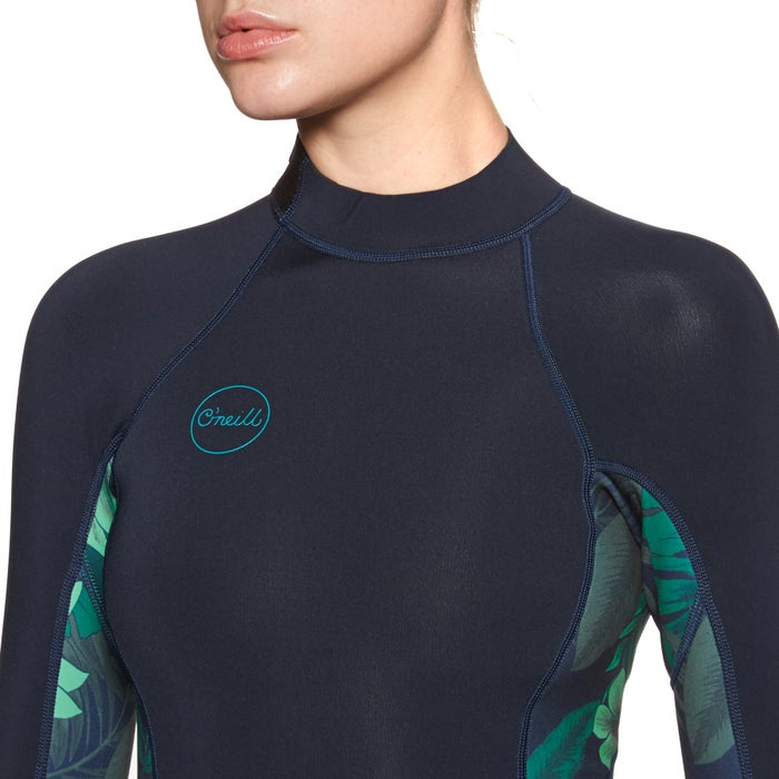 O Neill Bahia 2/1mm Back Zip Long Sleeve Shorty Wetsuit
