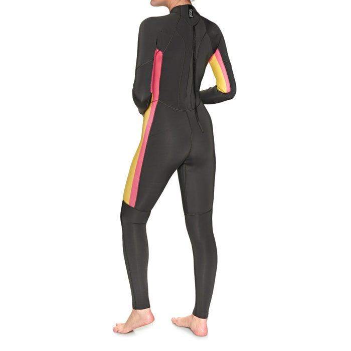 SISSTR 7 Seas Stripe 3/2mm 2019 Back Zip Ladies Wetsuit