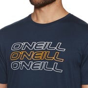 O Neill Triple Logo Short Sleeve T-Shirt