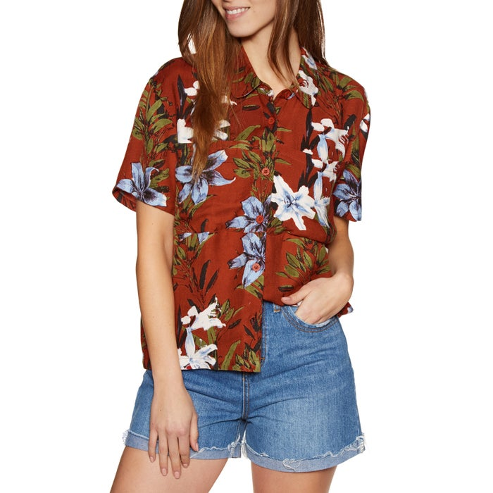 RVCA Adventure Club Ladies Short Sleeve Shirt