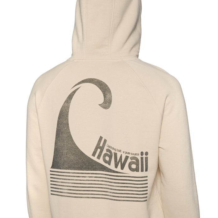 Lightning Bolt Hawaii Stripe Wave Fleece Pullover Hoody