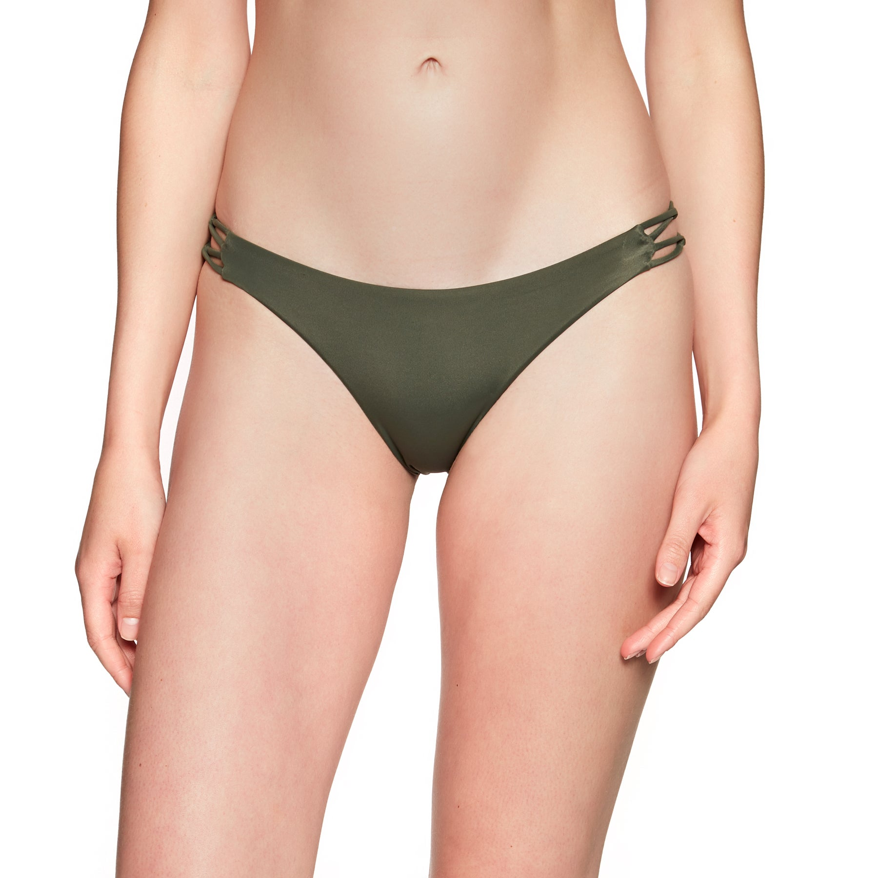 RVCA Solid Medium Loop Side Bikini Bottoms