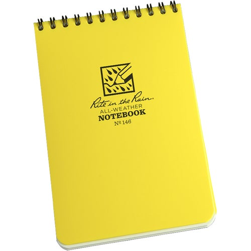 "Rite In The Rain Universal Notebook, Top Spiral Bound, 4"" X 6"" (50 Sheets) Book - White/yellow"