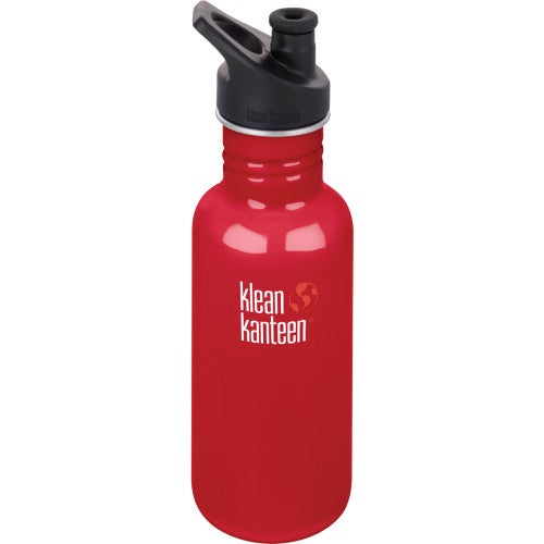 Klean Kanteen Classic 532ml With Sport Cap Water Bottle - Mineral Red