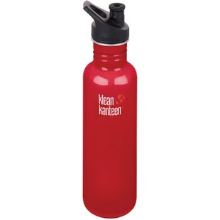 Klean Kanteen Classic 800ml With Sport Cap Water Bottle - Mineral Red