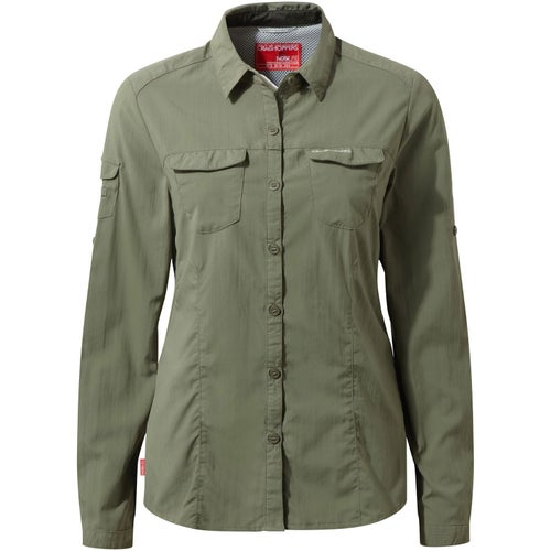 Craghoppers NosiLife Adventure Womens Long Sleeve Shirt - Soft Moss