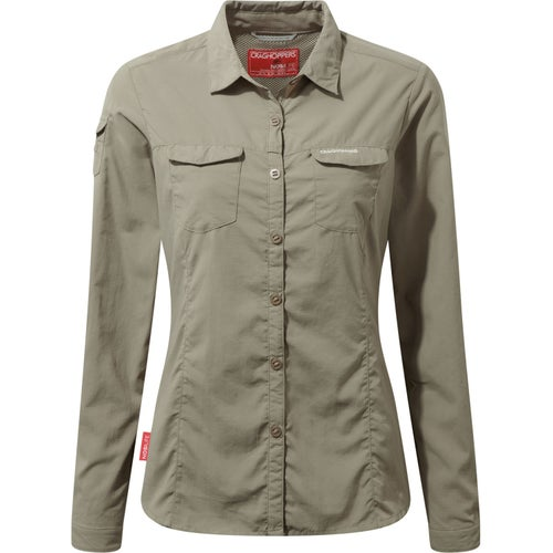 Craghoppers NosiLife Adventure Womens Long Sleeve Shirt - Mushroom