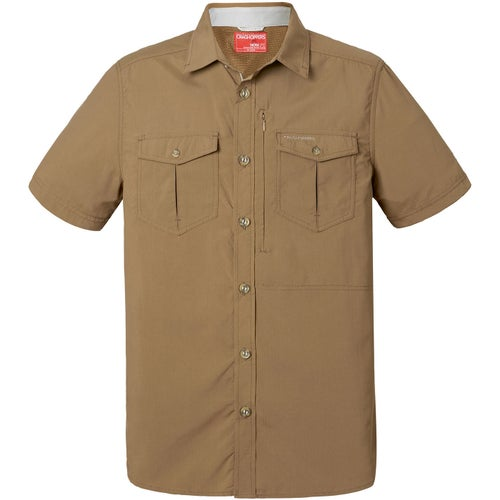 Craghoppers NosiLife Adventure Short Sleeved Shirt - Kangaroo