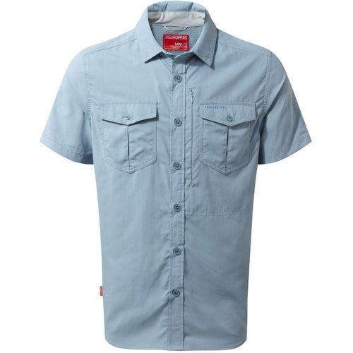 Craghoppers NosiLife Adventure Short Sleeved Shirt - Fogle Blue