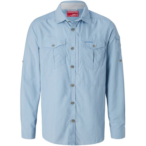 Craghoppers NosiLife Adventure Long Sleeve Shirt - Fogle Blue