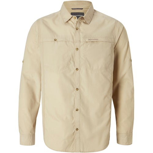 Craghoppers Kiwi Trek Long Sleeve Shirt - Oatmeal