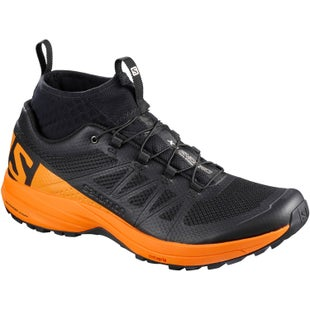 Salomon XA Enduro Trail Shoes - Black Bright Marigold Black