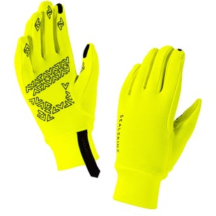 Sealskinz Stretch Fleece Nano Gloves - Hi Vis Yellow Black