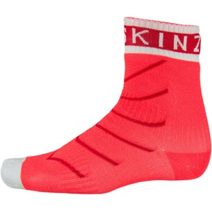 Sealskinz Super Thin Pro with Hydrostop Outdoor Socks - Coral Red White