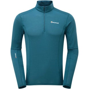 Montane Allez Micro Pull On Base Layer - Zanskar Blue