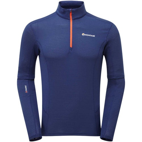 Montane Allez Micro Pull On Base Layer - Antarctic Blue