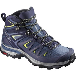 Salomon X Ultra 3 Mid GTX Womens Walking Shoes - Crown Blue Evening Blue Sunny Lime