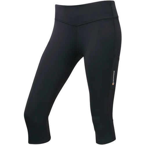Montane Via Trail Series 3 Quarter Tights Womens Baselayer Bottoms - Black