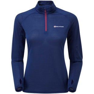 Montane Allez Micro Pull On Womens Base Layer - Antarctic Blue