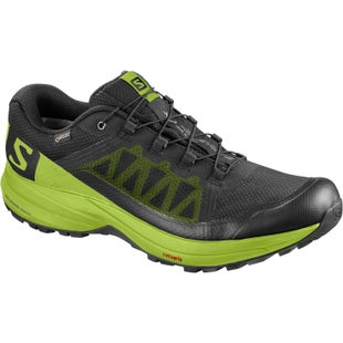 Salomon XA Elevate GTX Trail Shoes - Black Lime Green Black
