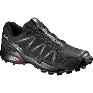Salomon Speedcross 4 Wide Trail Shoes - Black Black Black Metallic