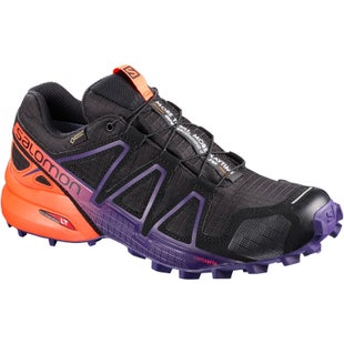 Salomon Speedcross 4 GTX Womens Trail Shoes - Ltd Black Nasturtium Parachute Purple