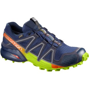 Salomon Speedcross 4 GTX Trail Shoes - Medieval Blue Acid Lime Graphite