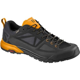 Salomon X Alp SPRY GTX Walking Shoes - Black Magnet Bright Marigold
